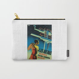 1932 SPAIN Illuminated Swimming Pool Advertising Poster Carry-All Pouch