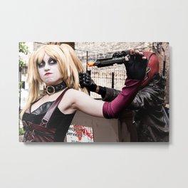 Harley Quinn Bridget & Red Hood Robfury Metal Print