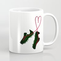 soccer Mugs featuring Soccer Love by Leah Flores