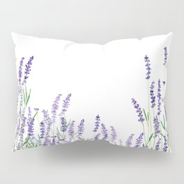 lavender watercolor horizontal Pillow Sham