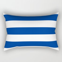 Air Force blue (USAF) -  solid color - white stripes pattern Rectangular Pillow