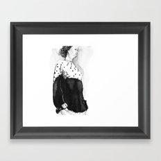 Fashion Illustration – Hana Cha S/S 2013 Framed Art Print
