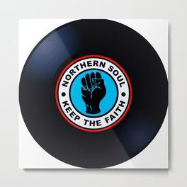Northern Soul Vinyl Metal Print