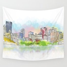 Pittsburgh Downtown Wall Tapestry