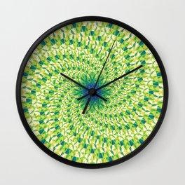 Greenspinwheel Wall Clock