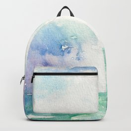 Colored Sky Watercolor Painting Backpack