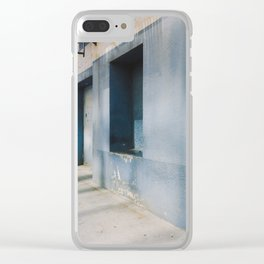 Blue Street Abstracts 1 Clear iPhone Case