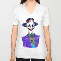 joker V-neck T-shirts featuring JOKER by ReadThisVA