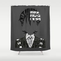 soul eater Shower Curtains featuring death the kid soul eater by Rebecca McGoran