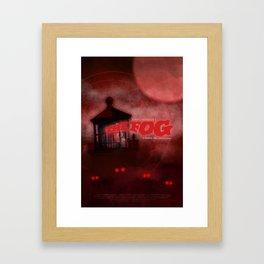 The Fog - Blood Red Framed Art Print