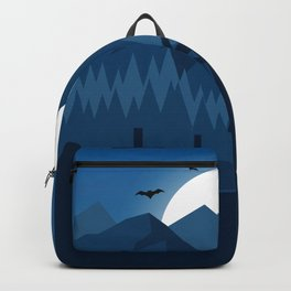 Halloween Scene Mountains Backpack