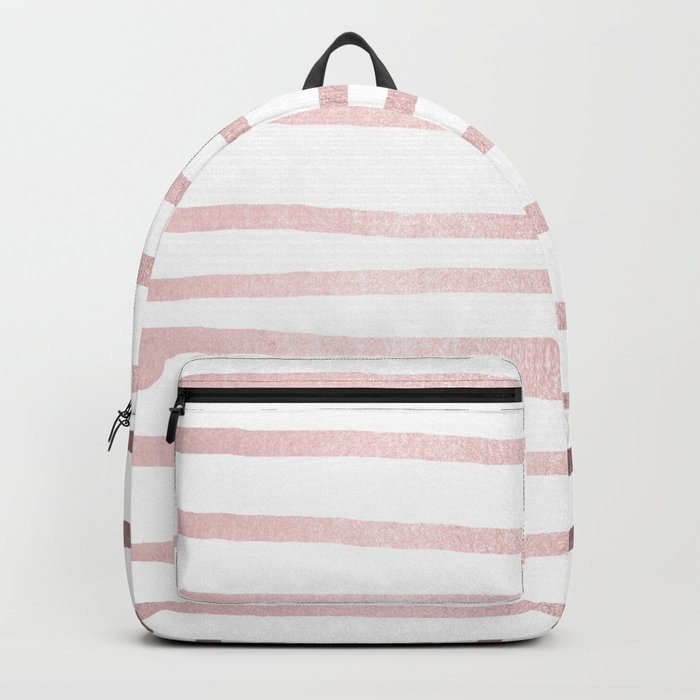 Simply Drawn Stripes Rose Gold Palace Backpack