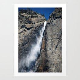 Yosemite park falls Art Print