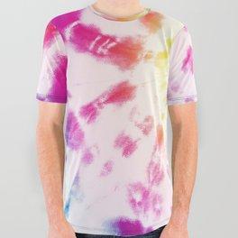 Tie-Dye Sunburst Rainbow All Over Graphic Tee