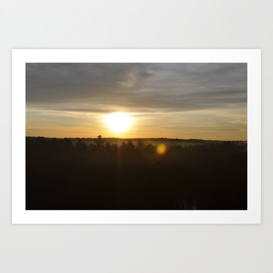 Sunrise Over the Reservoir Art Print