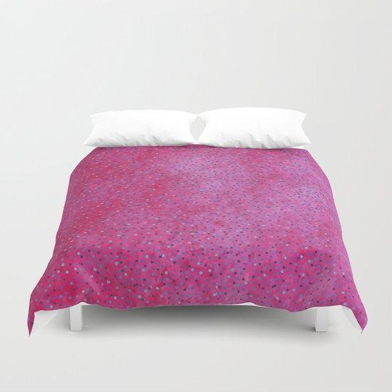 Pink & Blue Polka Dots #society6 #buyart #decor Duvet Cover