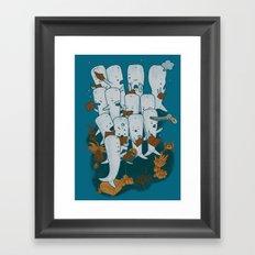 Whale songs Framed Art Print
