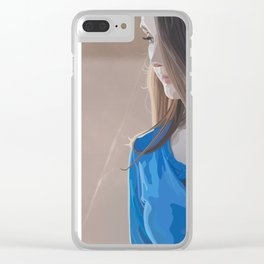 looking into the abyss Clear iPhone Case