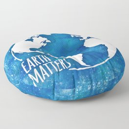 Earth Matters - 01 Blue Watercolors Floor Pillow