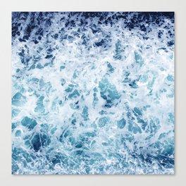 Ocean Waves Rushing Pell Mell Toward Shore Canvas Print