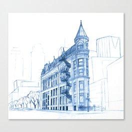 BluePrints | Gooderham Building - Toronto Canvas Print