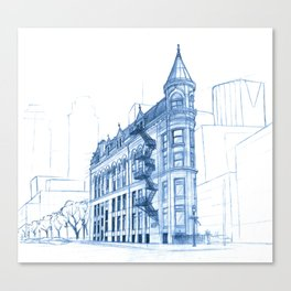 BluePrints | Gooderham Building - Toronto Canvas Print