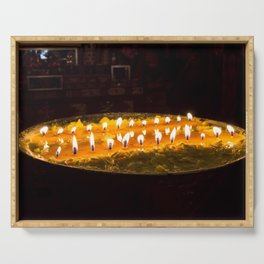 Tibet: Ritual butter lamp Serving Tray