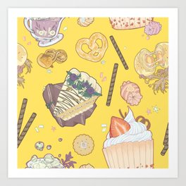 dessert party Art Print