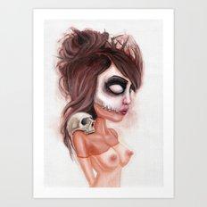 Deathlike Skull Impression Art Print