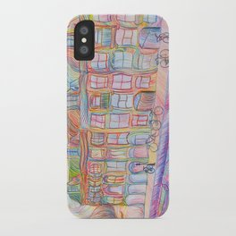 Wandering Amsterdam - Colored Pencil iPhone Case