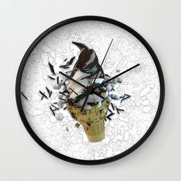 choco dip ice cream cone Wall Clock