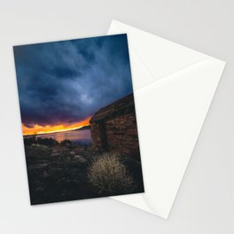 Southwest Lake Sunset Stationery Cards