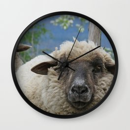 Disappointed sheep Wall Clock