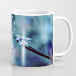 Blue on blue Flower Photography, Symphony in Blue Coffee Mug