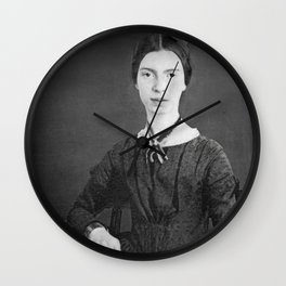 Emily Dickinson Portrait Wall Clock