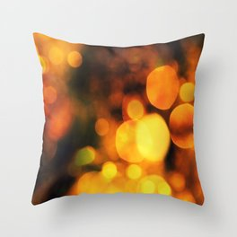 Coloured Bokeh Throw Pillow