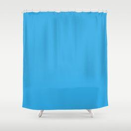 Blue Sky Solid Summer Party Color Shower Curtain