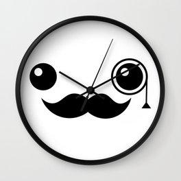 Cute Mr. Important Face Wall Clock