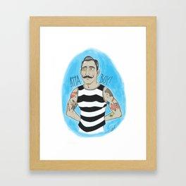 Atta Boy! Framed Art Print