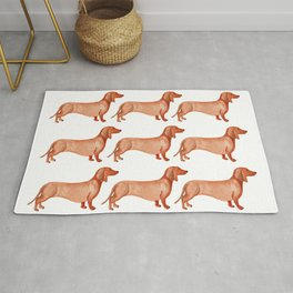 Watercolor Weenie Pattern Rug