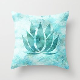 Lovey Lotus of Happiness Throw Pillow