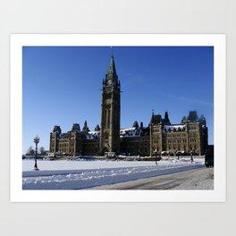 Parliament - Winter Art Print