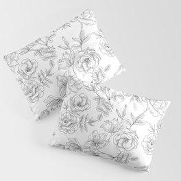 Pencil Flowers Pillow Sham