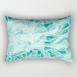 FERNING: Aqua ferns (2015) Rectangular Pillow