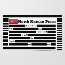 North Korea News Paper Rug