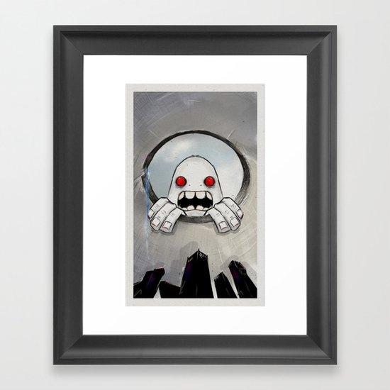 Scream (Looking in) Framed Art Print