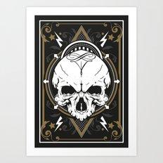 Skull design Art Print