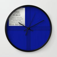 tardis Wall Clocks featuring TARDIS by Danyul