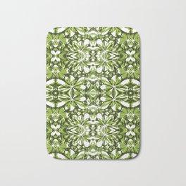 Stylized Nature Print Pattern Bath Mat