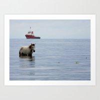 sea horse Art Prints featuring Sea Horse by Entre Aguas
